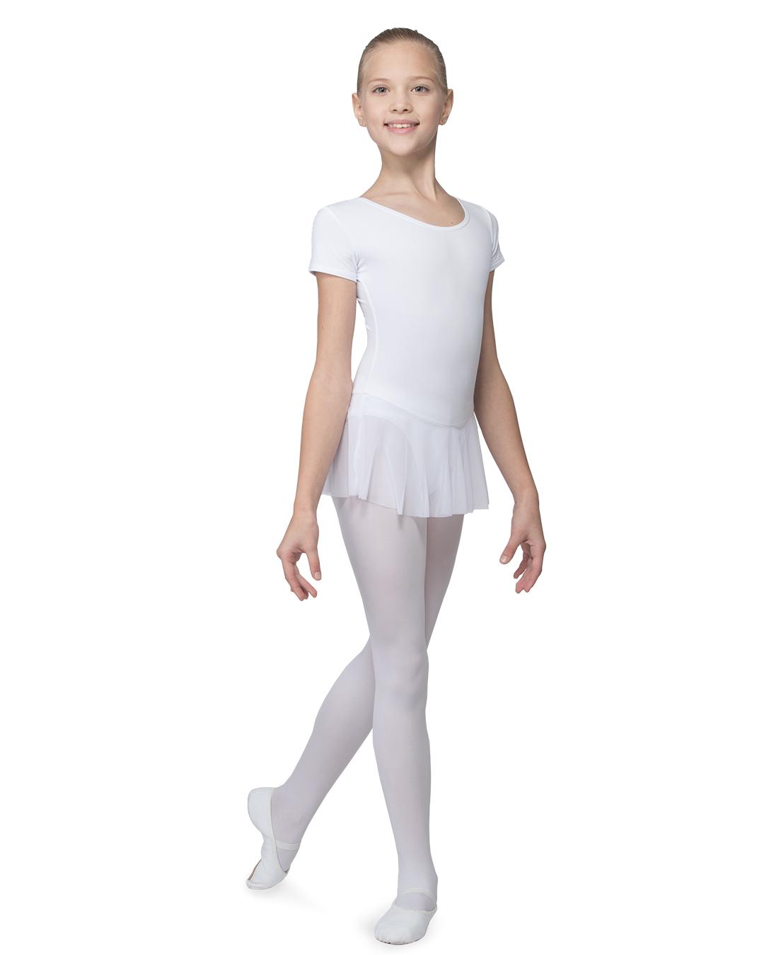 Grishko, valkoinen lasten balettipuku hameella