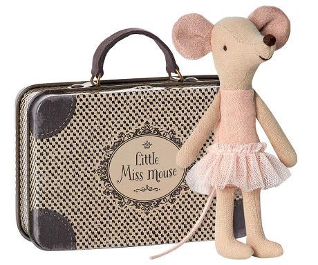 Maileg, isosisko ja matkalaukku