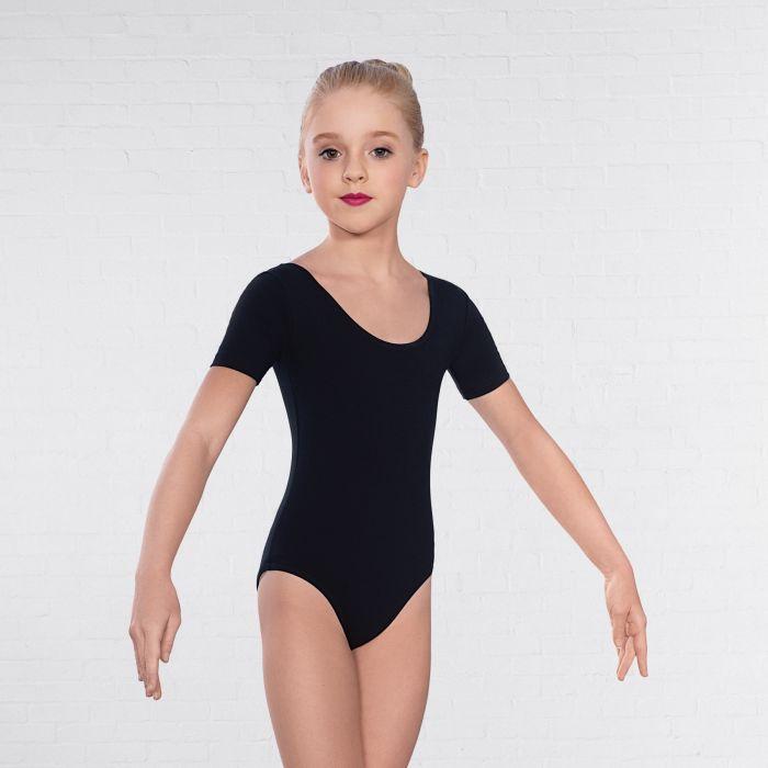 1st position, lasten musta hihallinen balettipuku