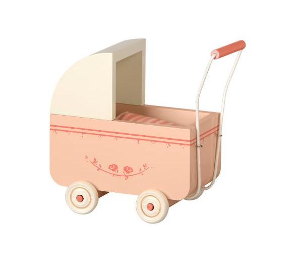 Maileg, MICRO-lastenvaunut, vaaleanpunainen