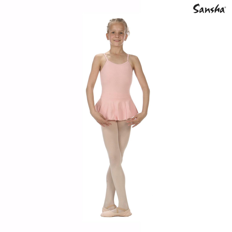 Sansha, lasten vaaleanpunainen Emma balettipuku hameella