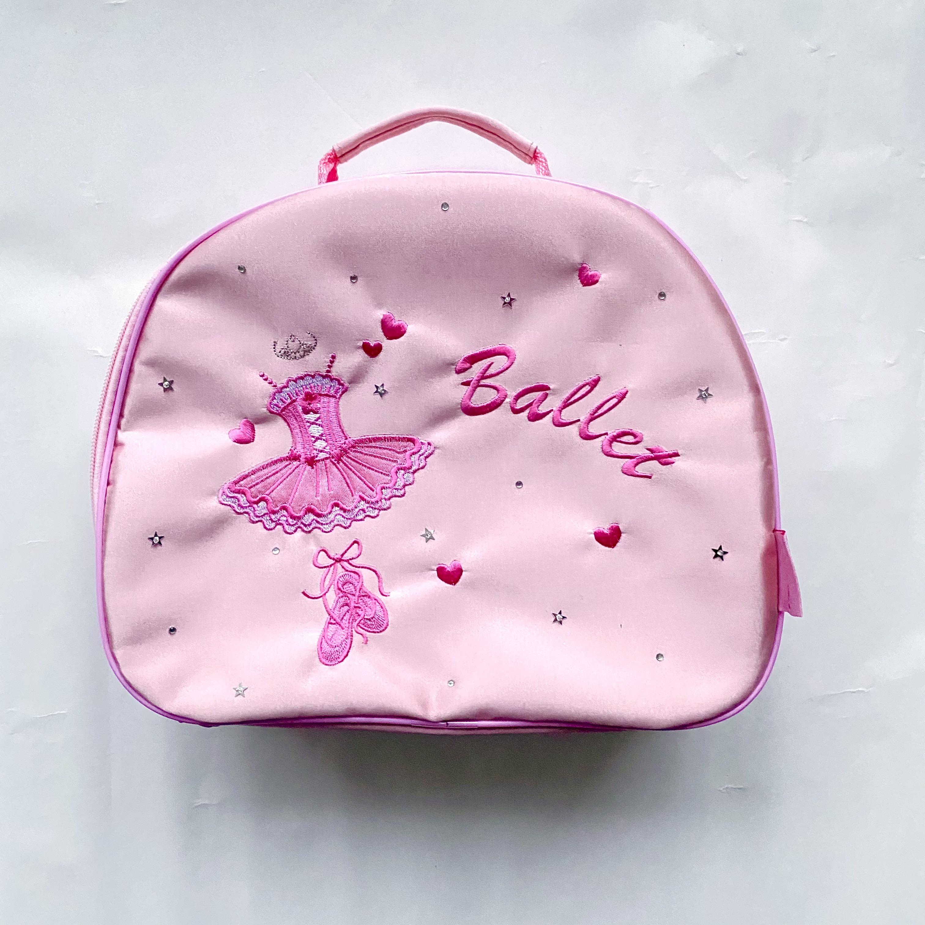 Lasten vaaleanpunainen balettilaukku