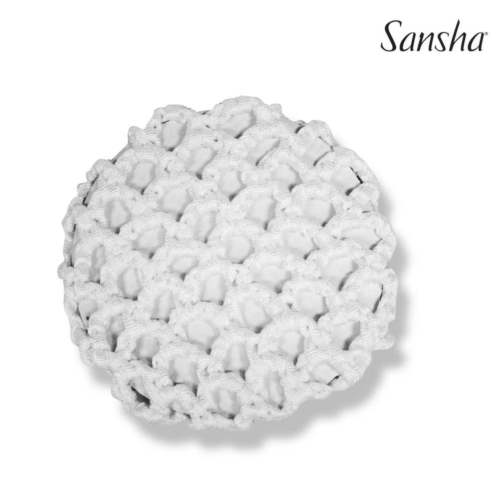 Sansha, paksu valkoinen nutturaverkko