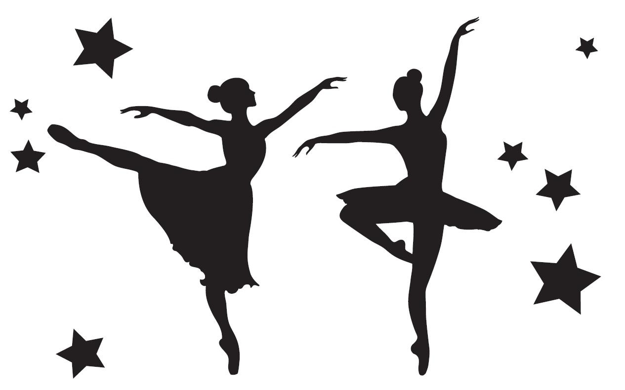 Kaksi ballerinaa, iso kortti