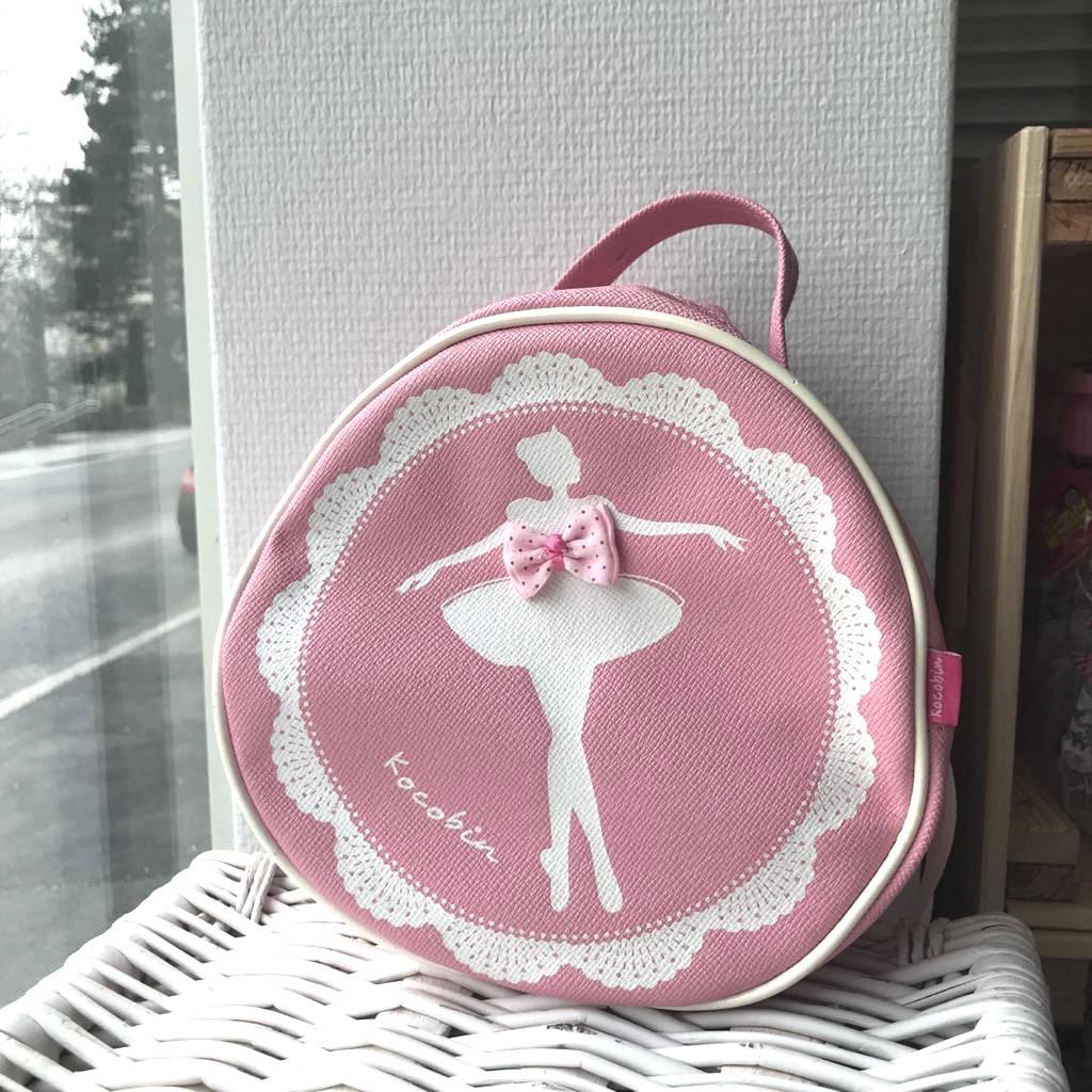 Vaaleanpunainen ballerina -kassi