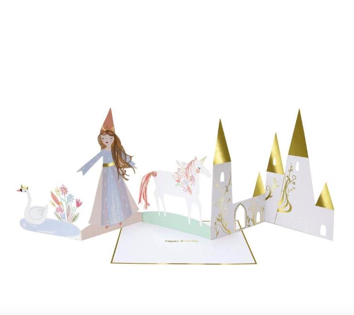 Meri Meri, taitettava prinsessa -kortti