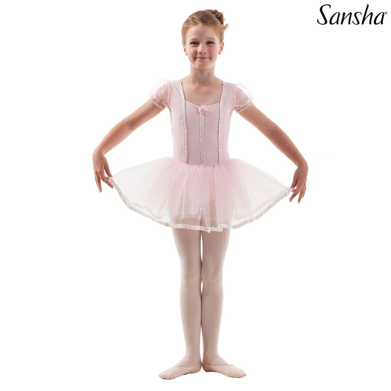 Sansha, lasten vaaleanpunainen Fidelity balettiasu