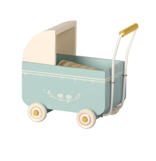 Maileg, MY-lastenvaunut, vaaleansininen