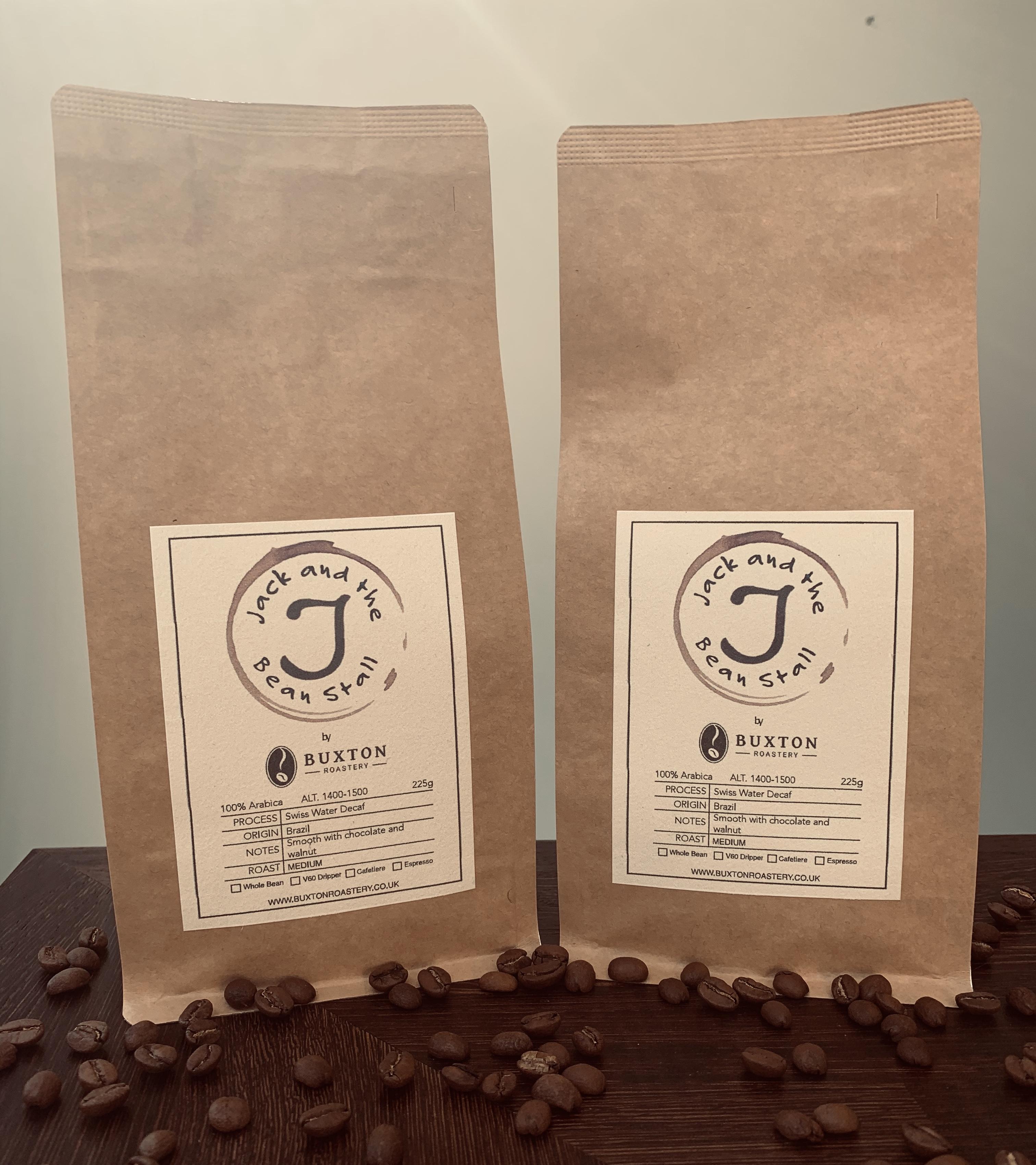 Decaffeinated coffee 225g bags