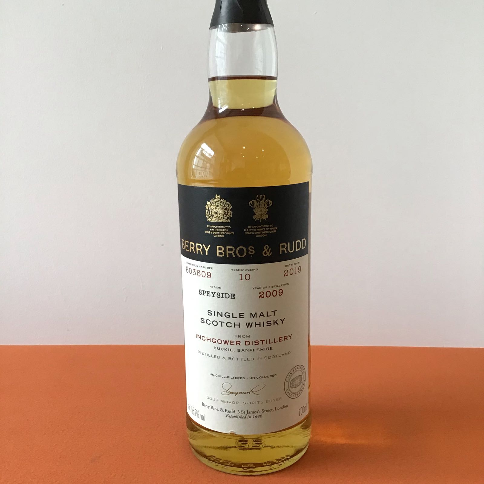 Berry Bros & Rudd: Inchgower Single Cask #803609 10yo