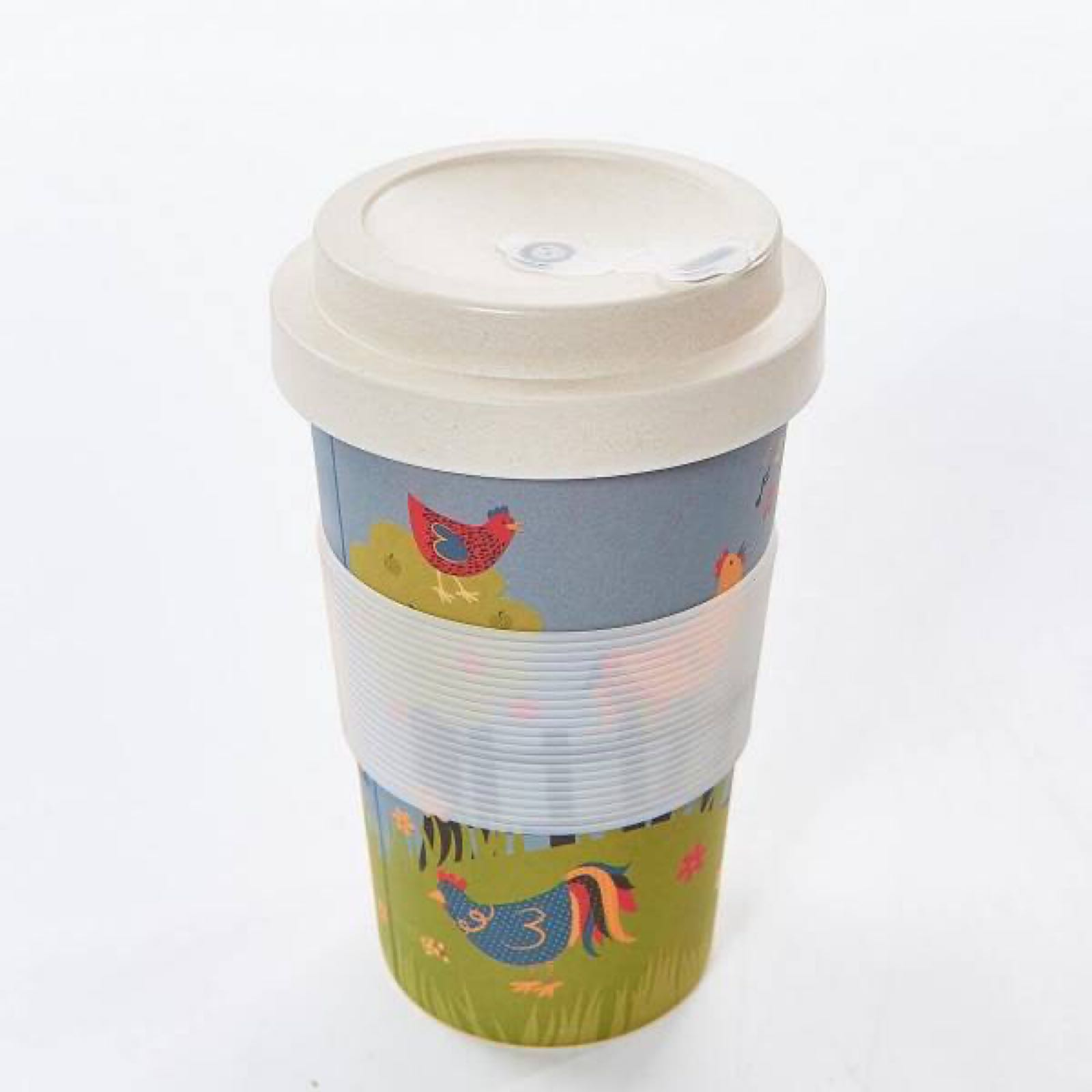 Chickens Reusable Bamboo Cup