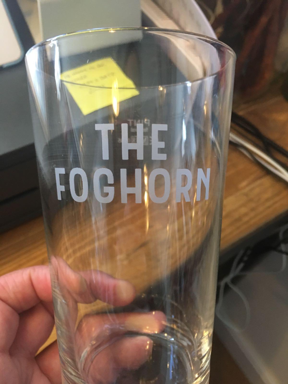 The Foghorn Pint Glass