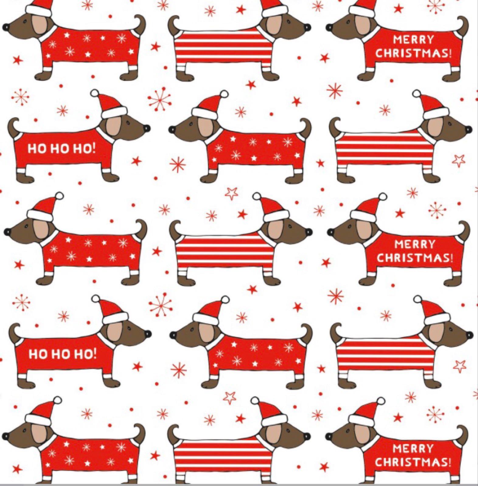 Christmas Dogs Daschund Wrap