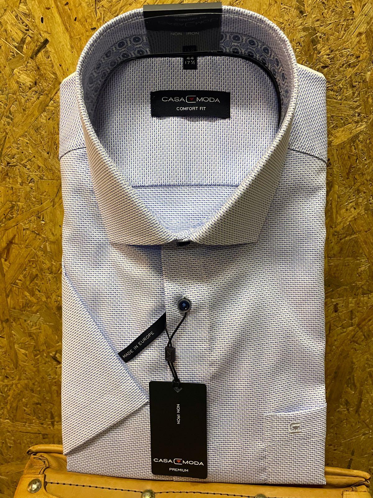Casa Moda k/ærmet skjorte Blå