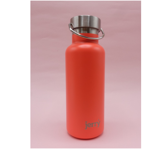 Jerry Bottle: 500ml Steel Water Bottle - Pink