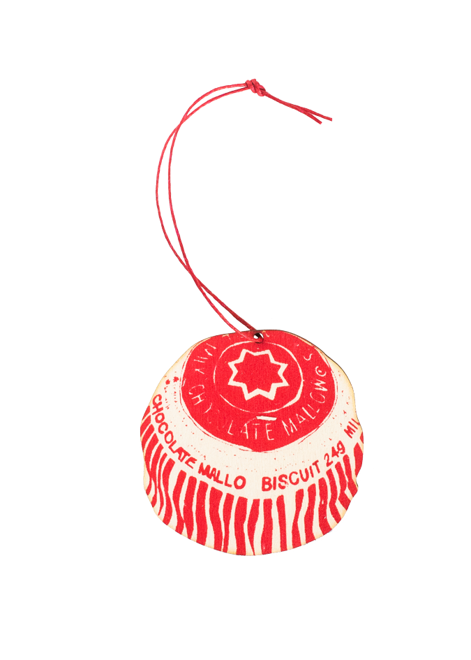 East End Press Wooden Decoration: Tunnocks Teacake