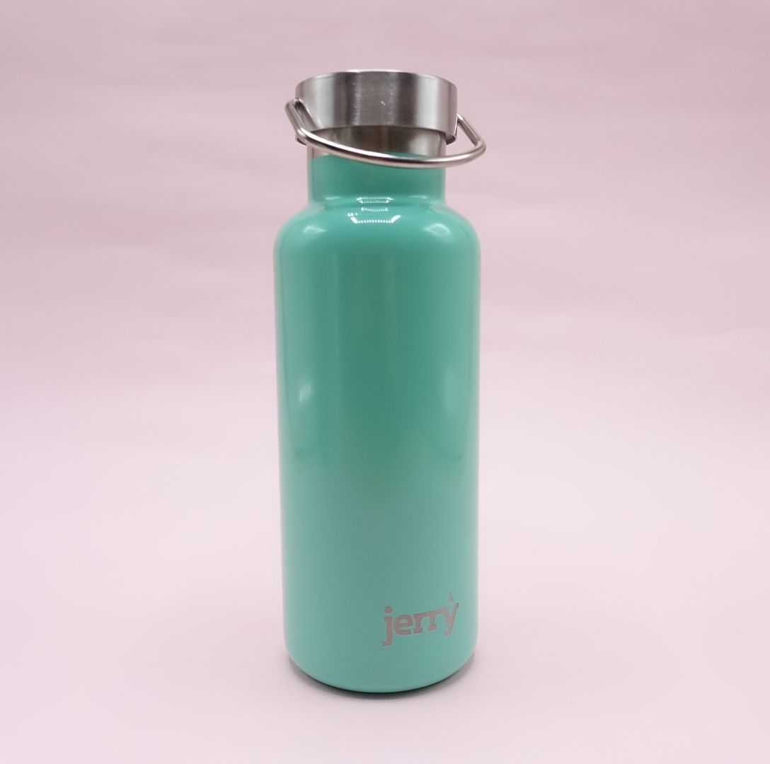 Jerry Bottle: 500ml Steel Water Bottle - Turquoise