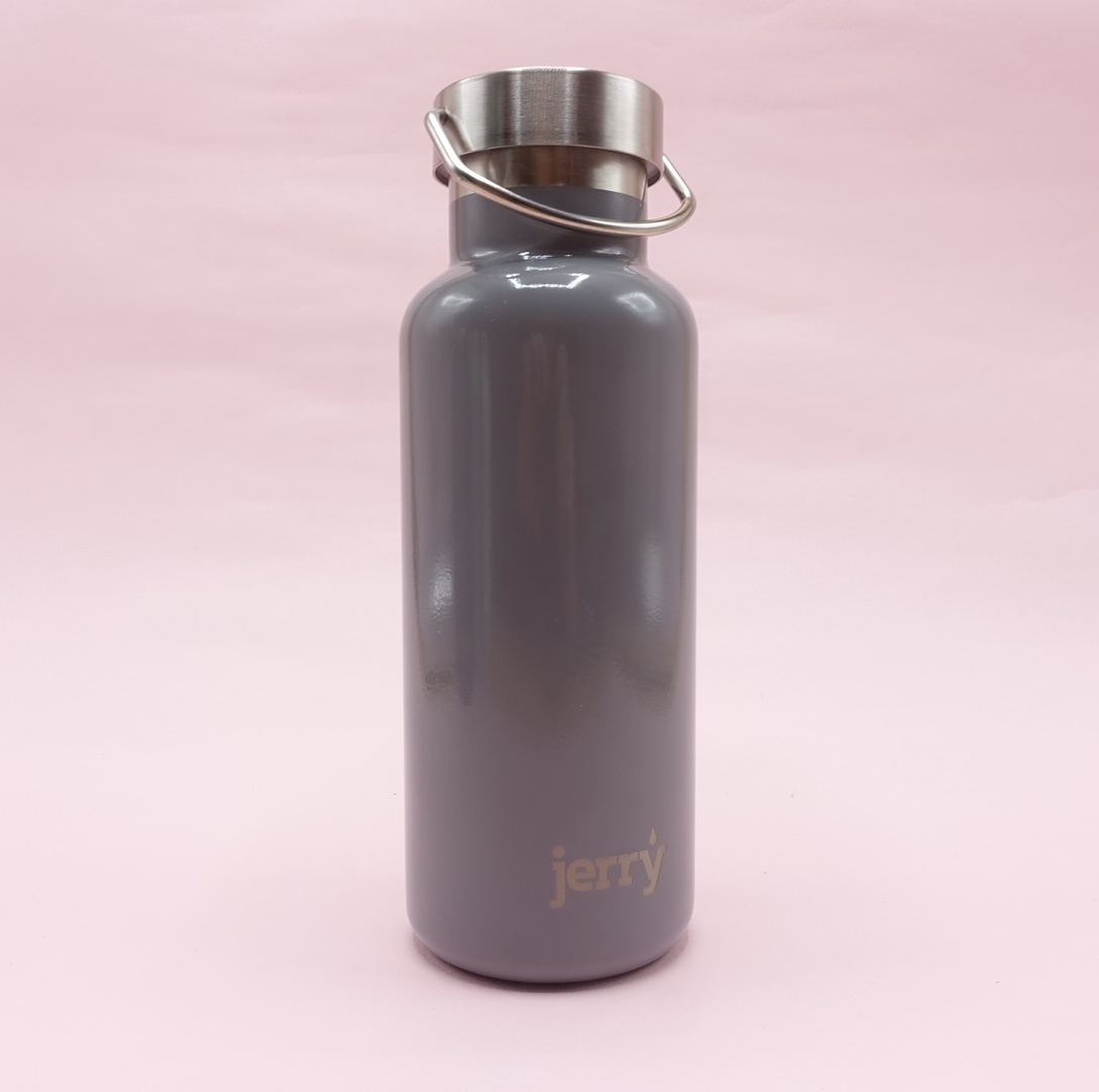 Jerry Bottle: Stainless Steel Water Bottle - Grey