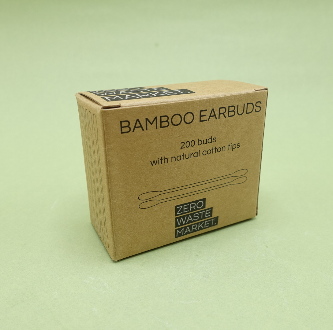 Plastic Free Bamboo Earbuds