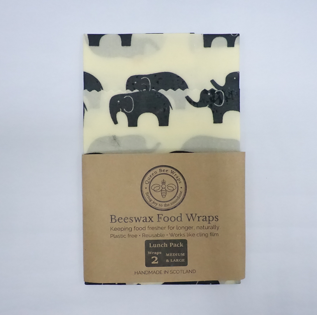 Queen Bee Beeswax Wraps - Elephants