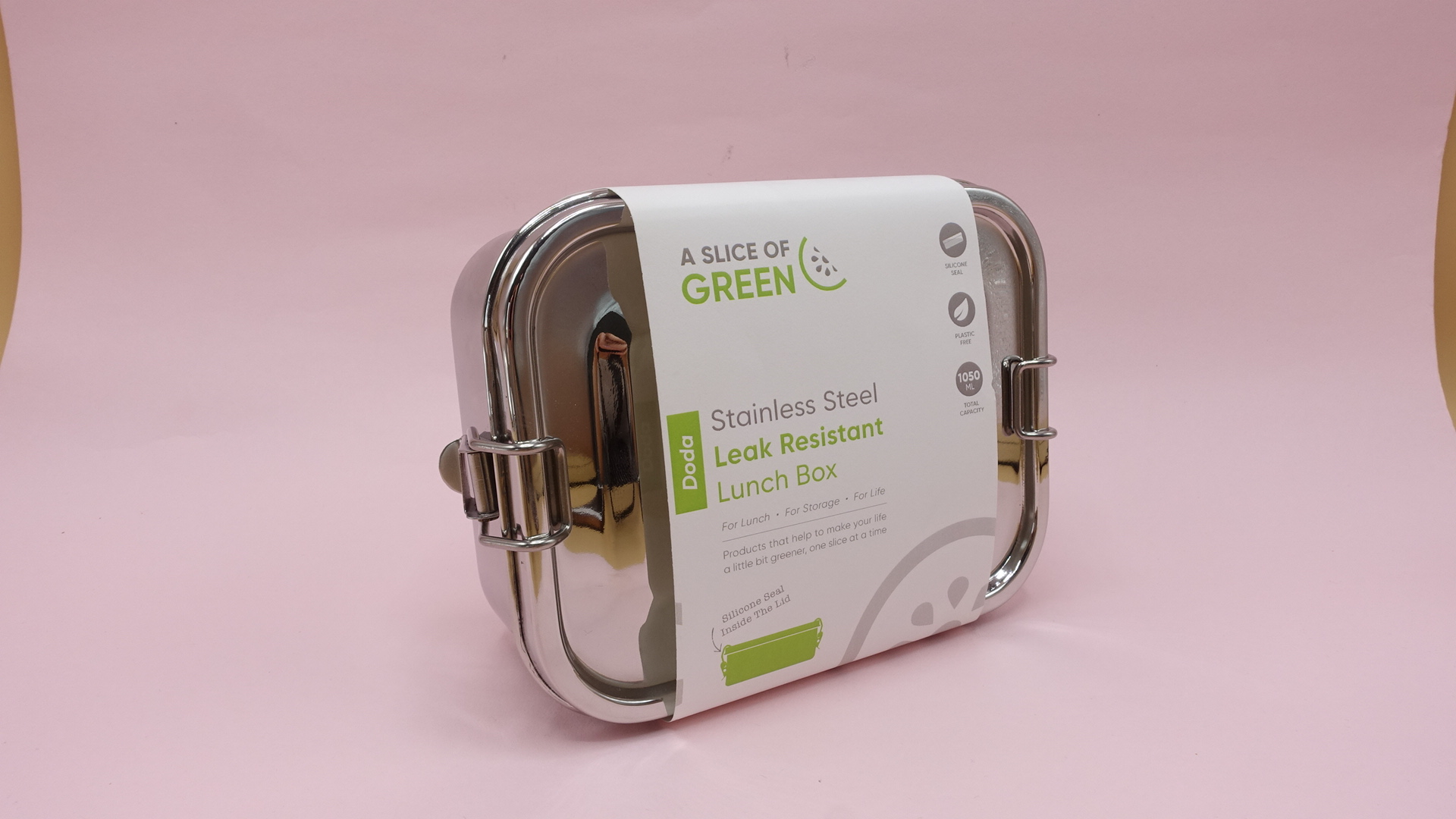 Large Stainless Steel Lunch Box - Leak Resistant