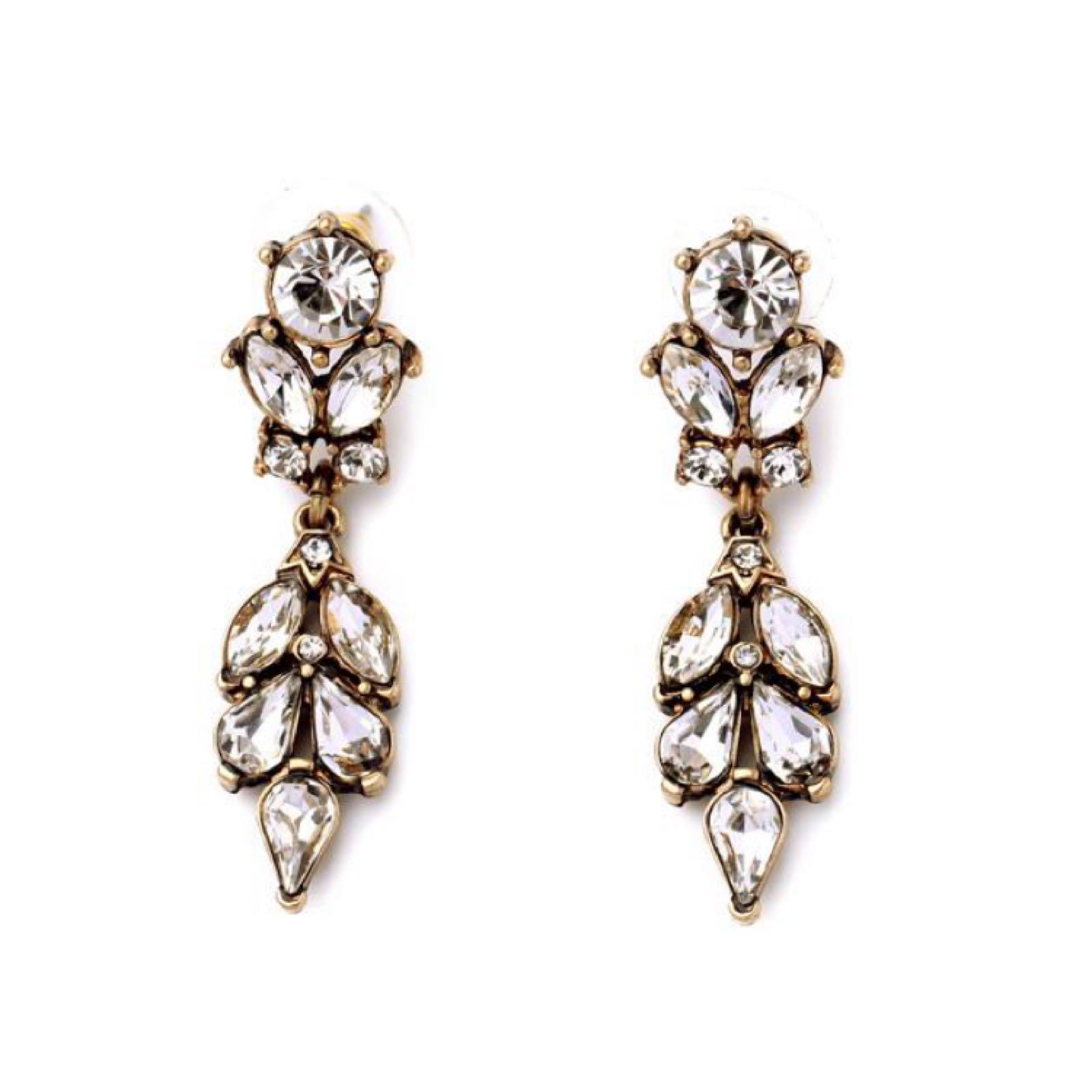 Last true angel diamanté crystal drop earrings