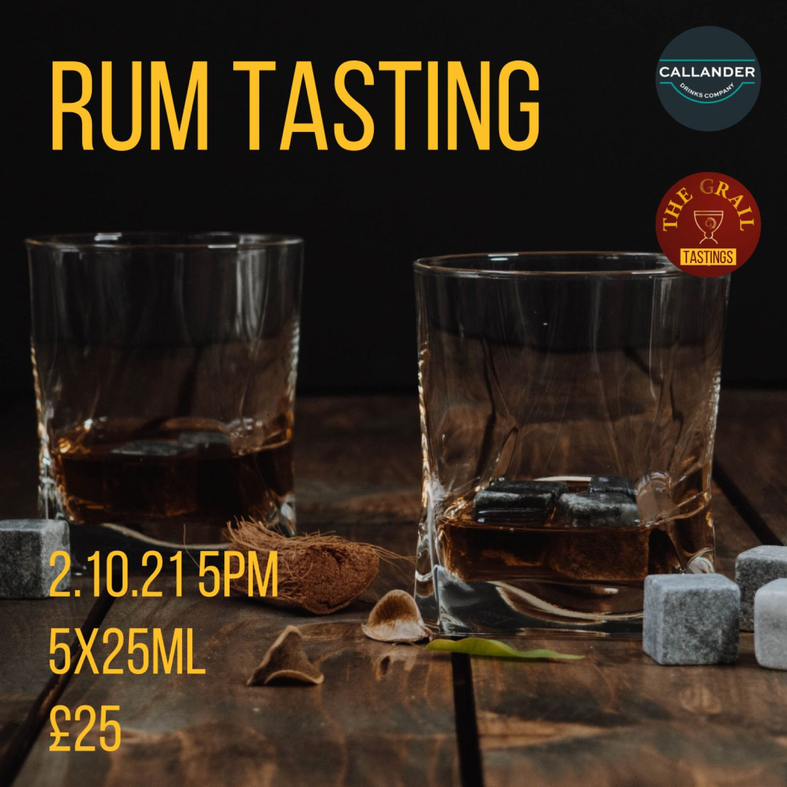 Rum Tasting 2.10.21