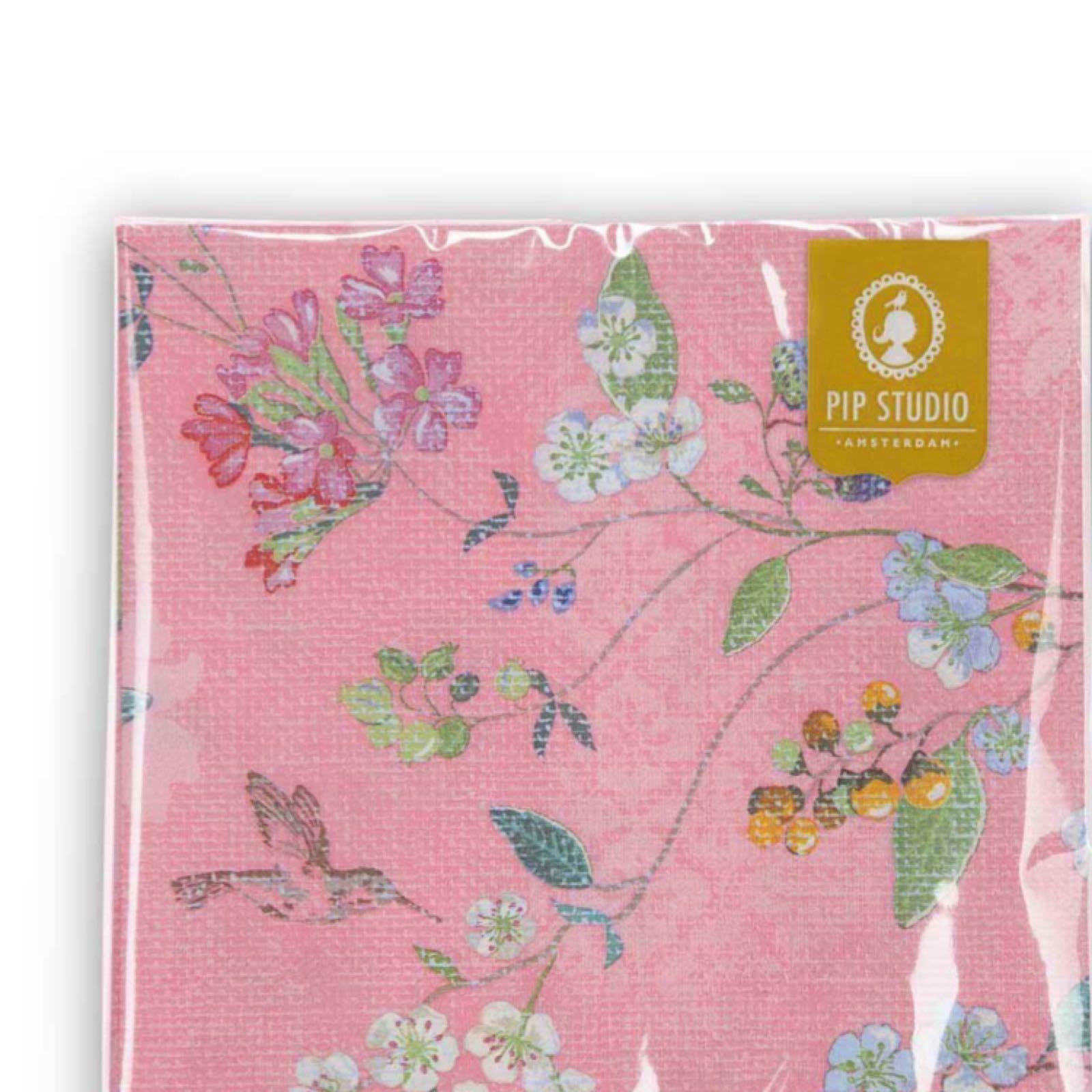 Pip studio hummingbird pink paper napkins pack of 20 was £4.50