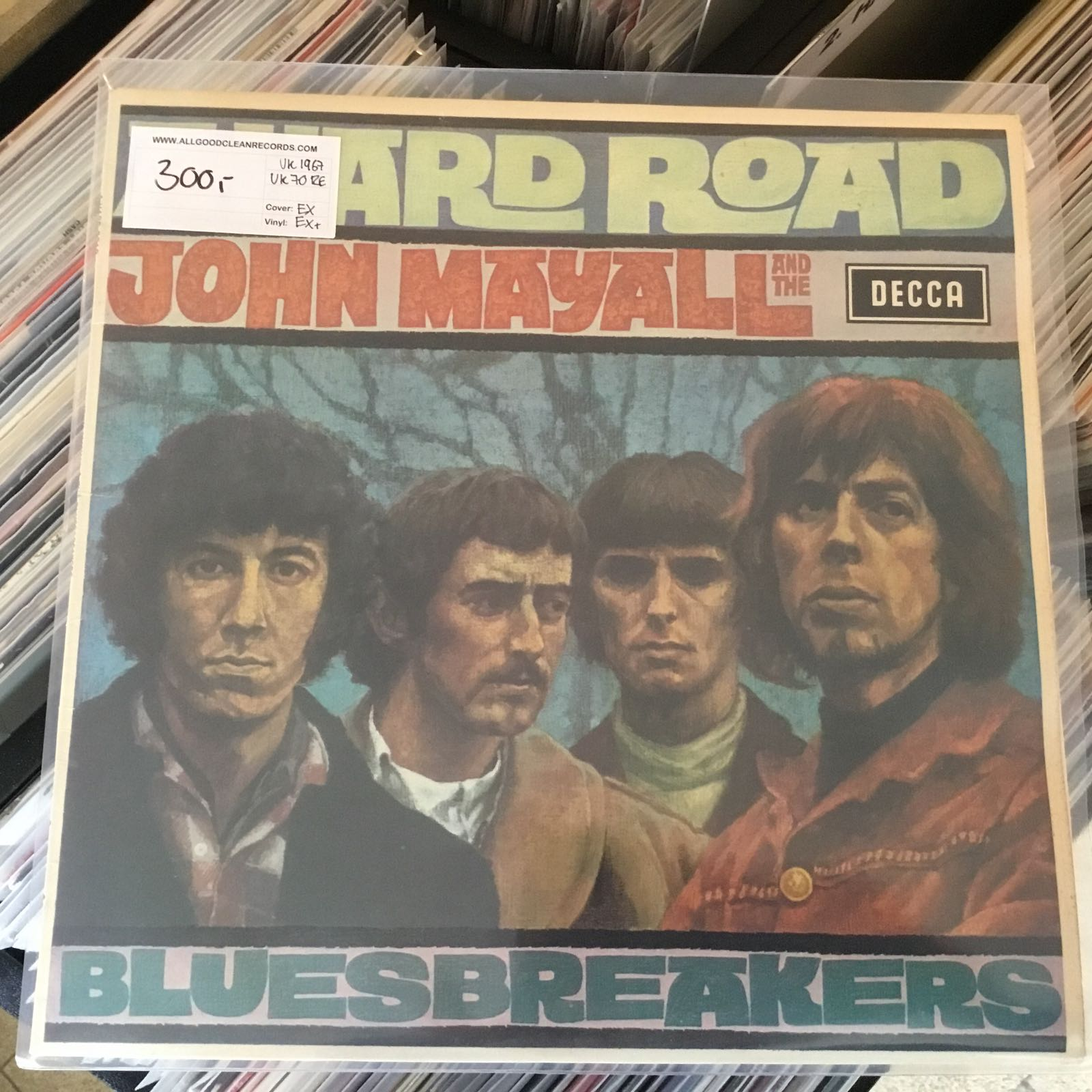 John Mayall and the Bluesbreakers – A Hard Road [LP] (2. hand)