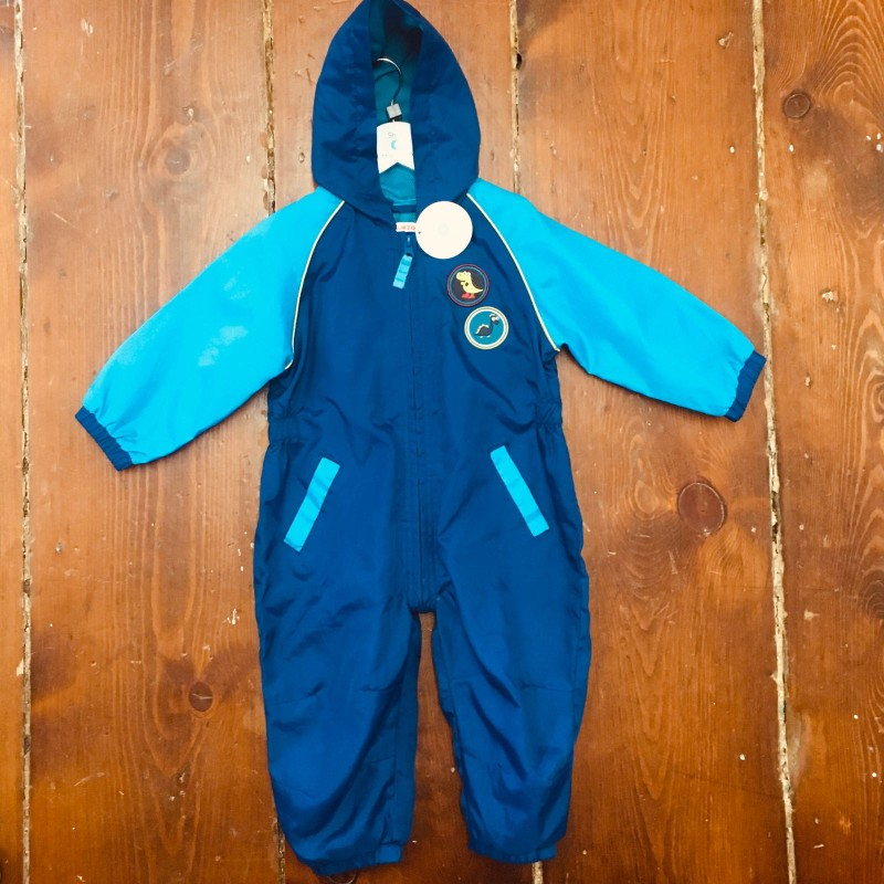 BLUE ZOO ALL IN ONE HOODED WATERPROOF, FOLDS INTO A POCKET 12-18M