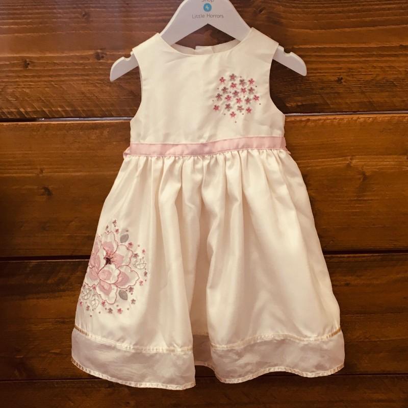 DAISY B BHS CREAM PARTY DRESS 9-12M