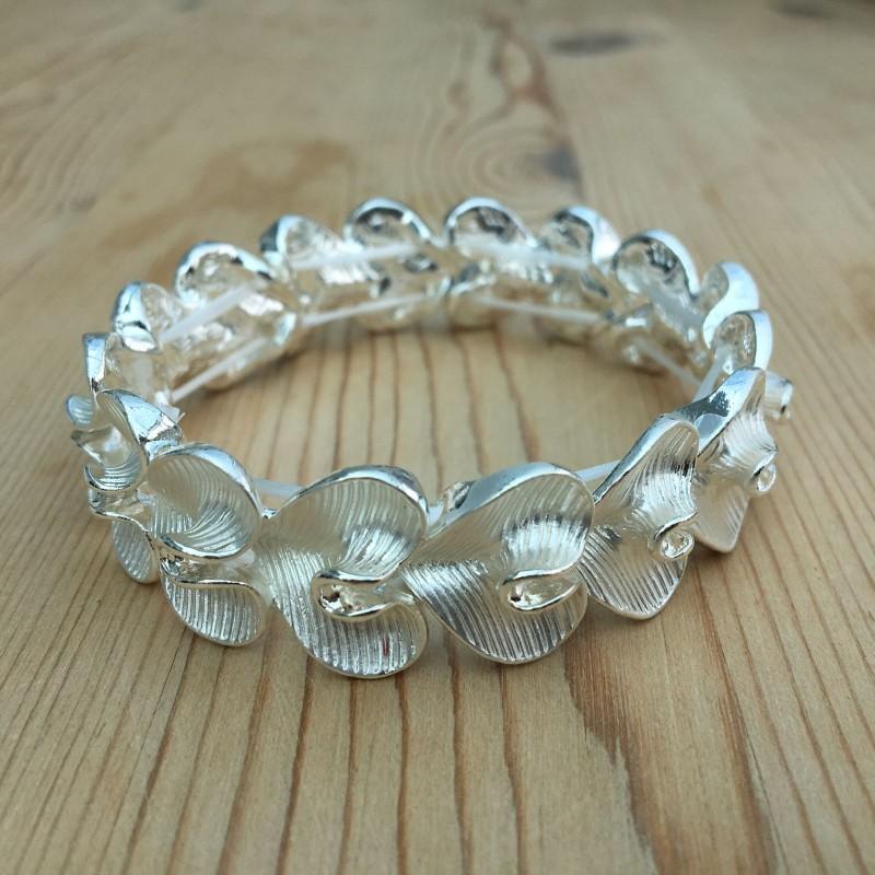 Lily Heart Bracelet - Silver