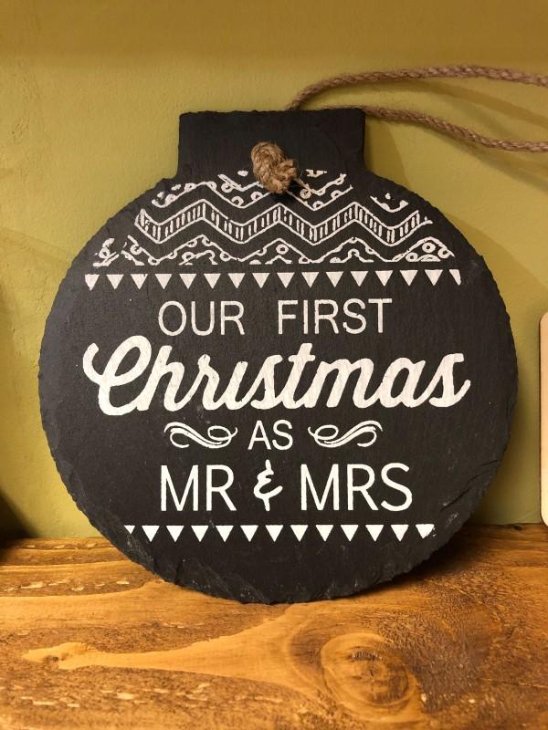 Mr and Mrs 1st slate