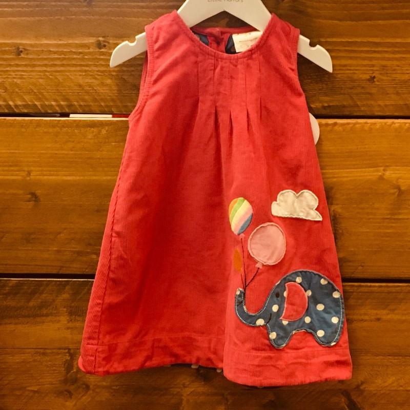 FRUGI CORD PINK DRESS 12-18M