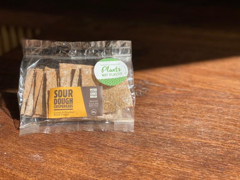 Peter Cooks Bread - Cumin Sourdough Crispbreads