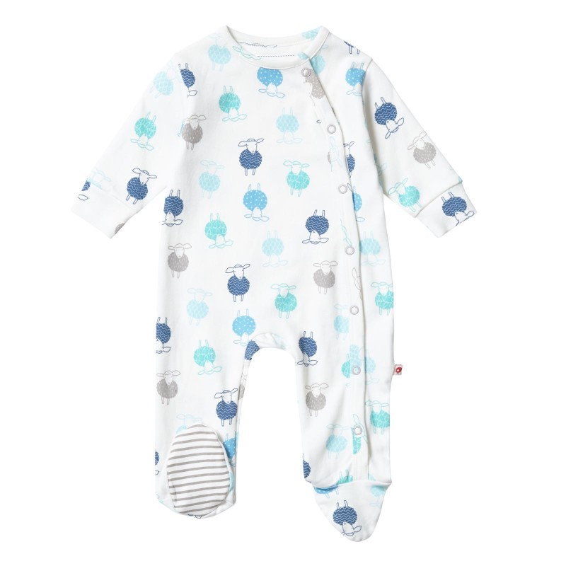 Piccalilly Sheep Wrapover Sleepsuit