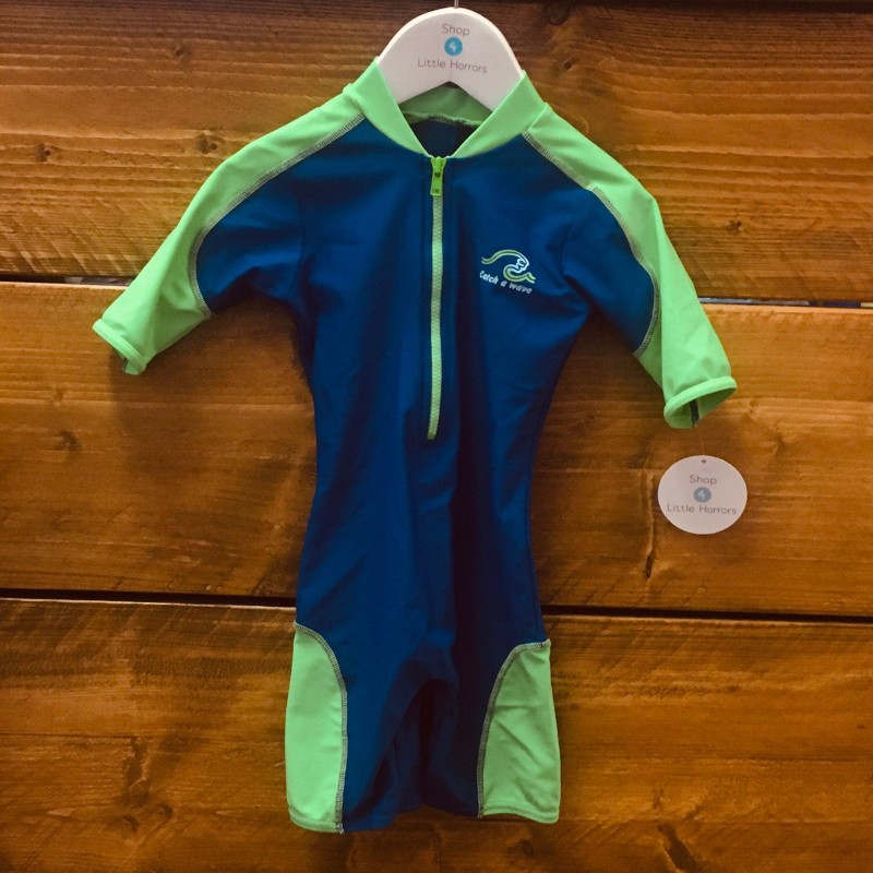 BABBLE BOOM BLUE/GREEN SWIMSUIT 9-12M