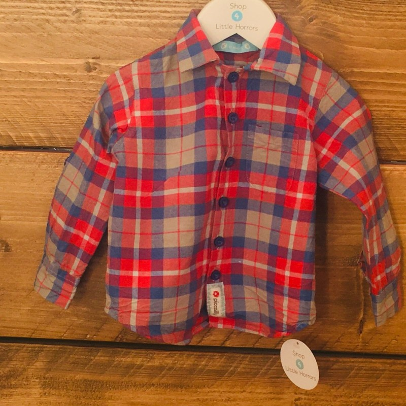 PICCALILLY CHECKED SHIRT 12-18M