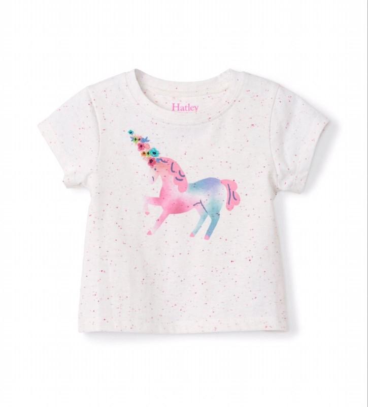 Hatley Delicate Unicorn Baby Tee