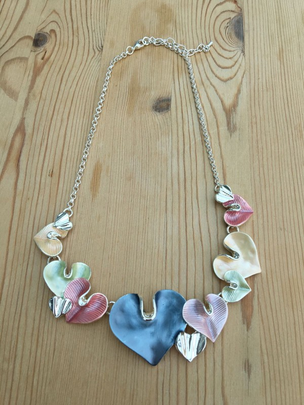 Lily Heart Necklace - Multicolour