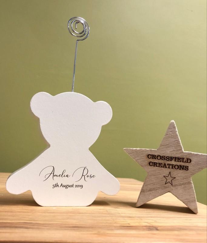 Baby bear photo holder