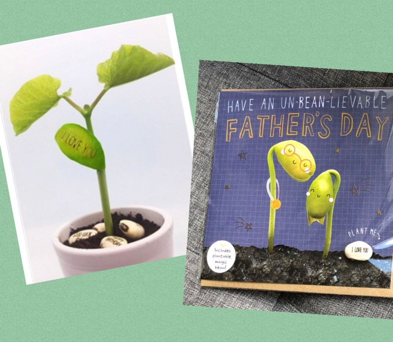Father's Day card with plantable bean