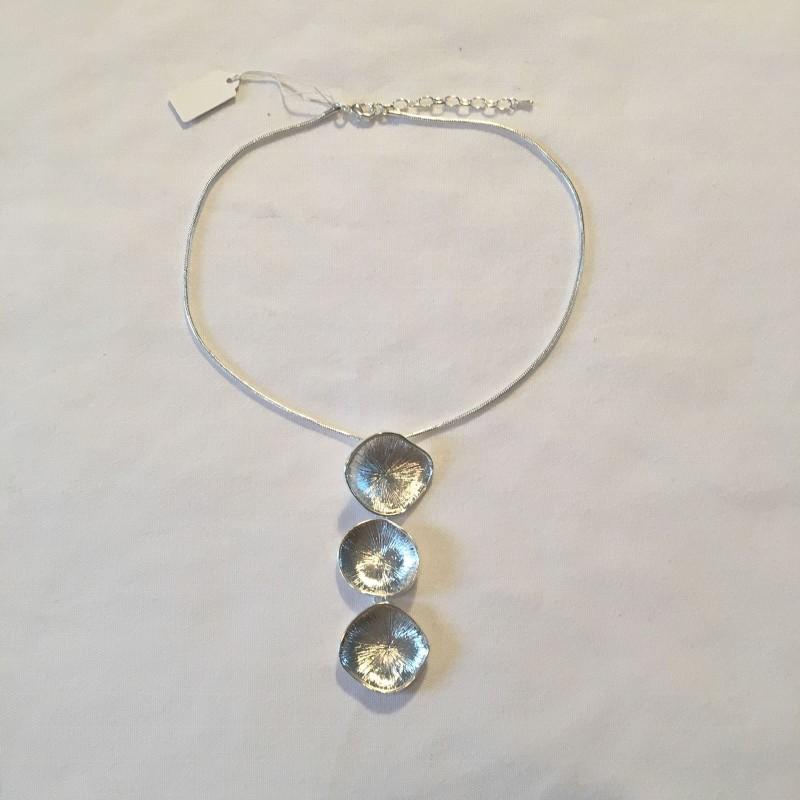3 Circle Necklace - Silver