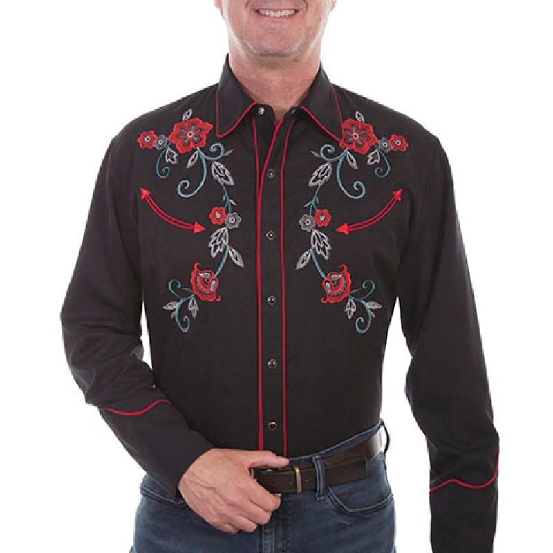 Westernskjorta Scully Brodyr Blomster