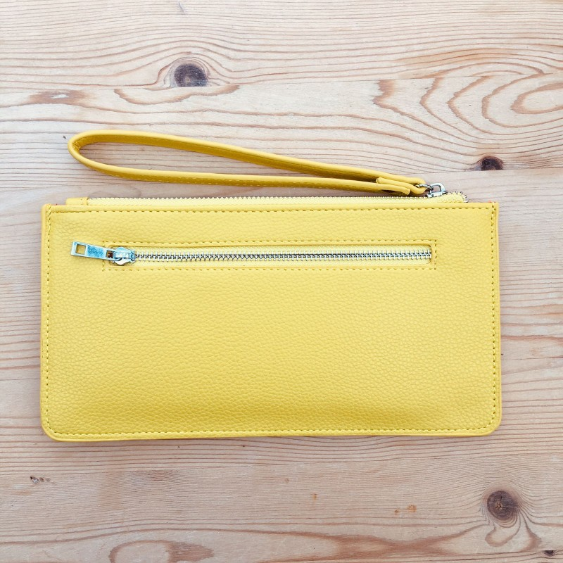 Skinny Wristlet Purse - Yellow