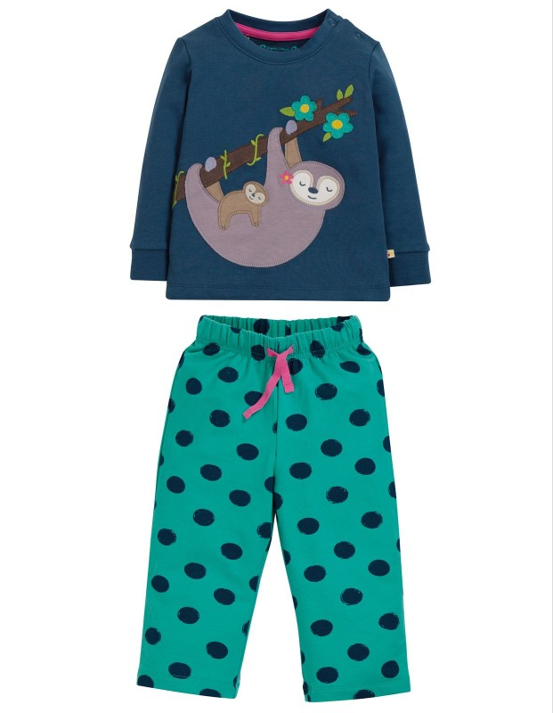 Frugi Lou PJs Space Blue/Sloth