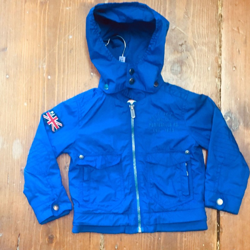 BLUE PEPE HOODED BLUE ANORAK 2YRS