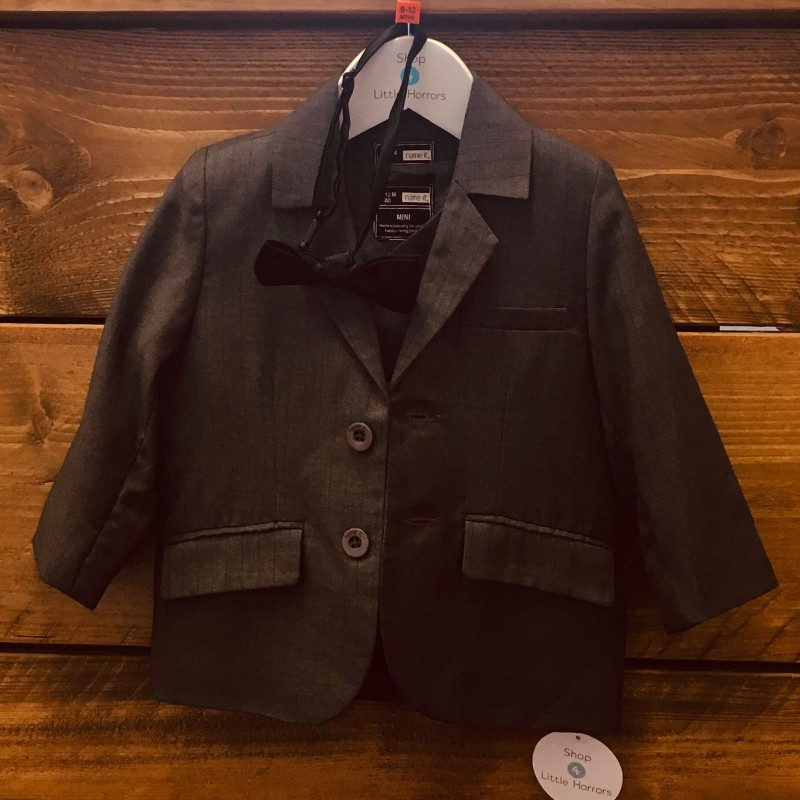 NAME IT.COM SUIT JACKET/WAISTCOAT AND DICKY BOW 9-12M
