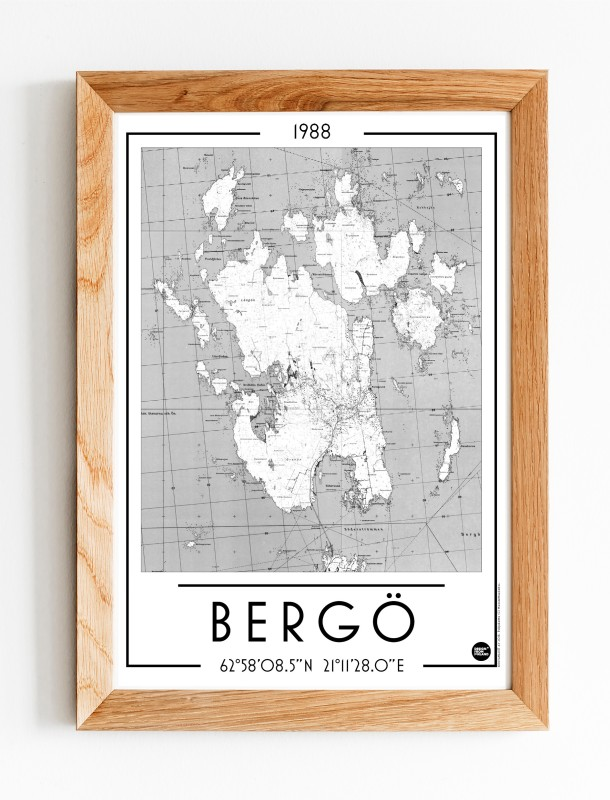 Bergö 1988, A3 karttajuliste