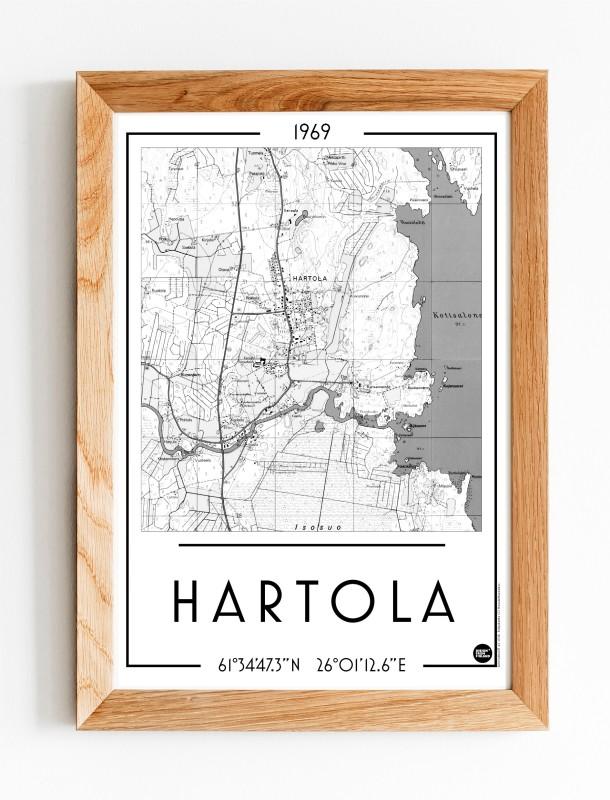 Hartola, A3 karttajuliste